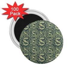 Money Symbol Ornament 2 25  Magnets (100 Pack)