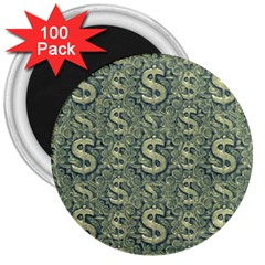 Money Symbol Ornament 3  Magnets (100 pack)