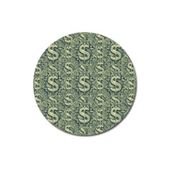 Money Symbol Ornament Magnet 3  (Round)