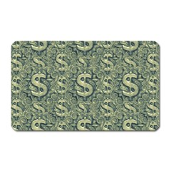 Money Symbol Ornament Magnet (rectangular)