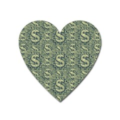 Money Symbol Ornament Heart Magnet
