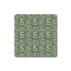 Money Symbol Ornament Square Magnet