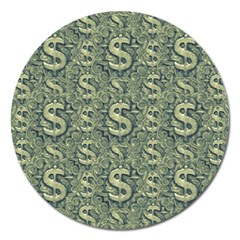 Money Symbol Ornament Magnet 5  (round)