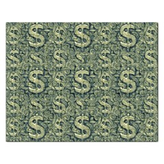 Money Symbol Ornament Rectangular Jigsaw Puzzl