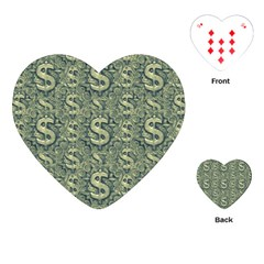 Money Symbol Ornament Playing Cards (heart)
