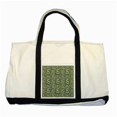 Money Symbol Ornament Two Tone Tote Bag