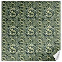 Money Symbol Ornament Canvas 12  X 12