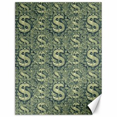 Money Symbol Ornament Canvas 12  x 16