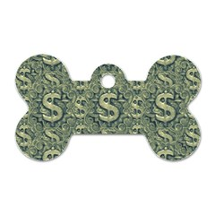 Money Symbol Ornament Dog Tag Bone (one Side)