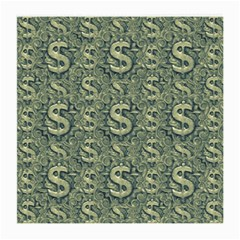 Money Symbol Ornament Medium Glasses Cloth