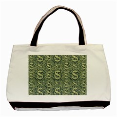Money Symbol Ornament Basic Tote Bag (Two Sides)