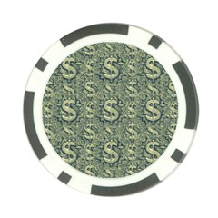 Money Symbol Ornament Poker Chip Card Guard