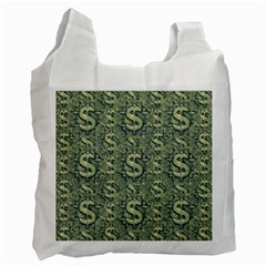 Money Symbol Ornament Recycle Bag (one Side)