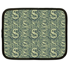 Money Symbol Ornament Netbook Case (XL)