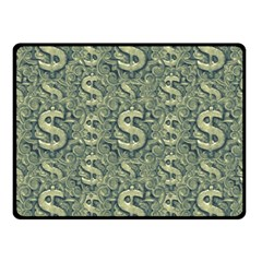 Money Symbol Ornament Fleece Blanket (Small)