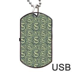 Money Symbol Ornament Dog Tag USB Flash (One Side)