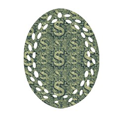 Money Symbol Ornament Ornament (Oval Filigree)