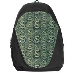 Money Symbol Ornament Backpack Bag