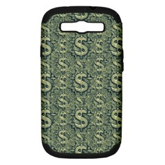 Money Symbol Ornament Samsung Galaxy S III Hardshell Case (PC+Silicone)