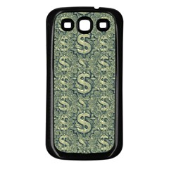 Money Symbol Ornament Samsung Galaxy S3 Back Case (Black)