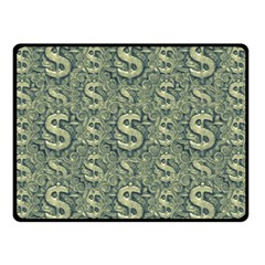 Money Symbol Ornament Double Sided Fleece Blanket (Small)