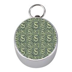 Money Symbol Ornament Mini Silver Compasses