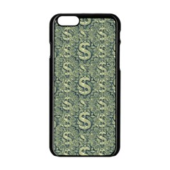 Money Symbol Ornament Apple Iphone 6/6s Black Enamel Case