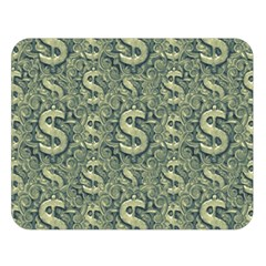Money Symbol Ornament Double Sided Flano Blanket (Large)