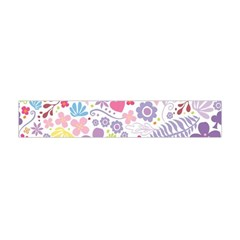 Colorful flower Flano Scarf (Mini)