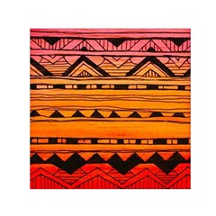 warm tribal Small Satin Scarf (Square)