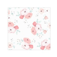 Lovely flowers Small Satin Scarf (Square)