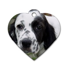 English Setter Dog Tag Heart (Two Sides)