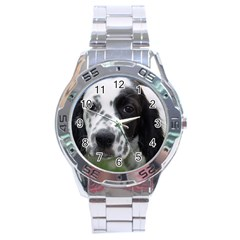 English Setter Stainless Steel Analogue Watch