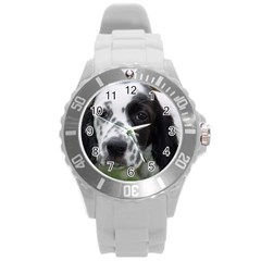 English Setter Round Plastic Sport Watch (L)