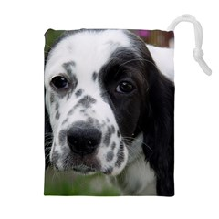 English Setter Drawstring Pouches (Extra Large)