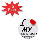 Eng Setter Love 1  Mini Buttons (10 pack)