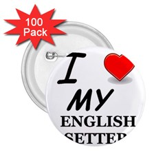 Eng Setter Love 2.25  Buttons (100 pack)