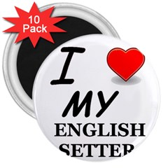 Eng Setter Love 3  Magnets (10 pack)