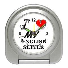 Eng Setter Love Travel Alarm Clocks