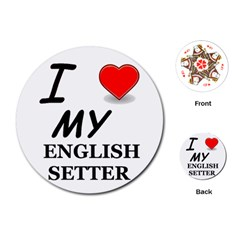 Eng Setter Love Playing Cards (Round)