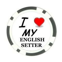 Eng Setter Love Poker Chip Card Guard