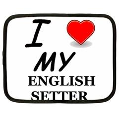 Eng Setter Love Netbook Case (XL)