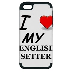 Eng Setter Love Apple iPhone 5 Hardshell Case (PC+Silicone)