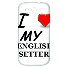 Eng Setter Love Samsung Galaxy S3 S III Classic Hardshell Back Case