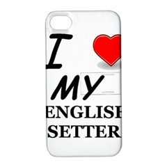 Eng Setter Love Apple iPhone 4/4S Hardshell Case with Stand