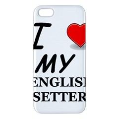 Eng Setter Love Apple iPhone 5 Premium Hardshell Case