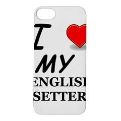 Eng Setter Love Apple iPhone 5S/ SE Hardshell Case