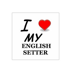 Eng Setter Love Satin Bandana Scarf