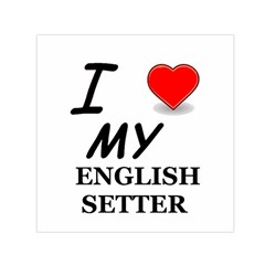 Eng Setter Love Small Satin Scarf (Square)