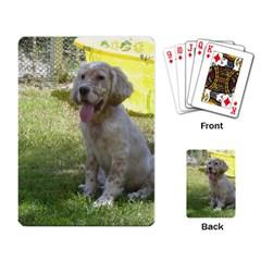 English Setter Orange Belton Puppy Playing Card